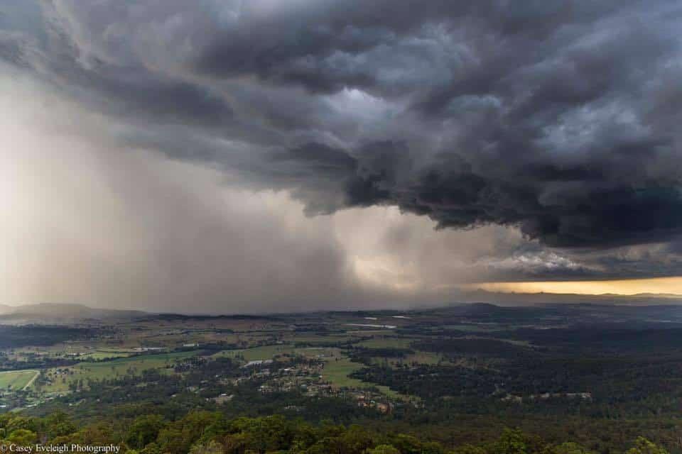 A storm front closing in up Mount Tamborine Australia