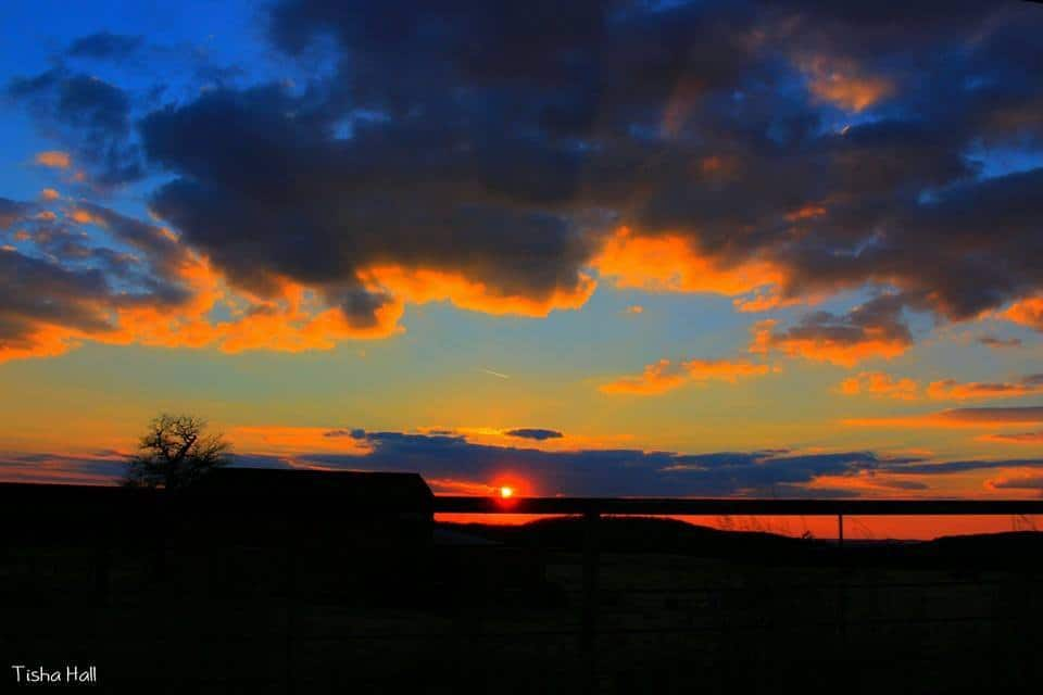 Sunset in Park Hill, Oklahoma yesterday evening! (February 06, 2016)