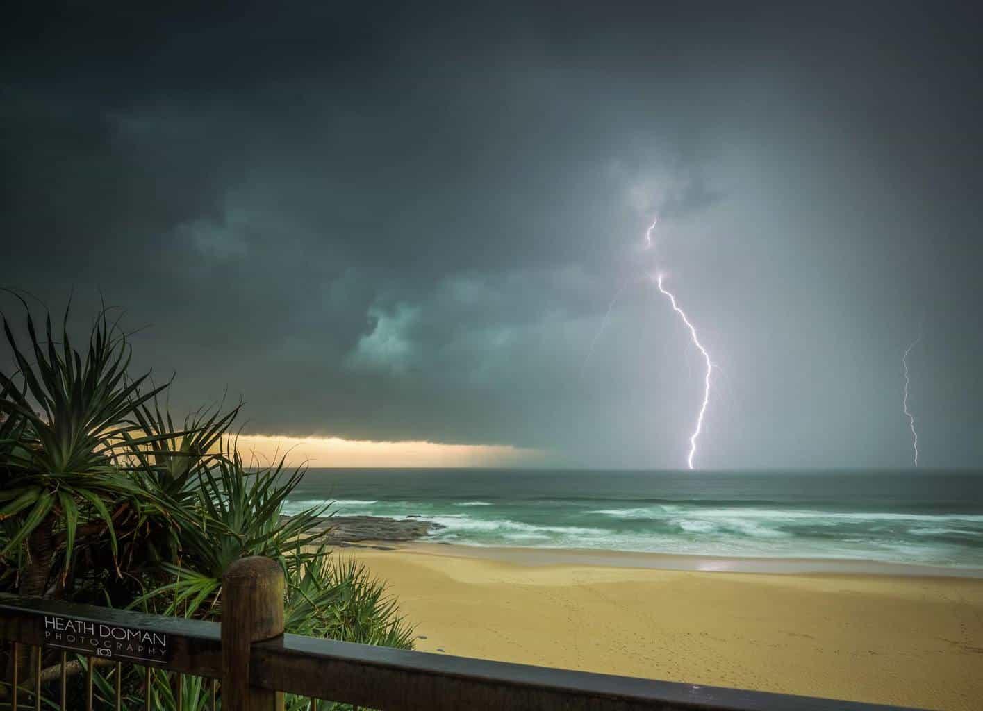 Point Cartwright Australia yesterday. Single 1.6 second exposure on burst