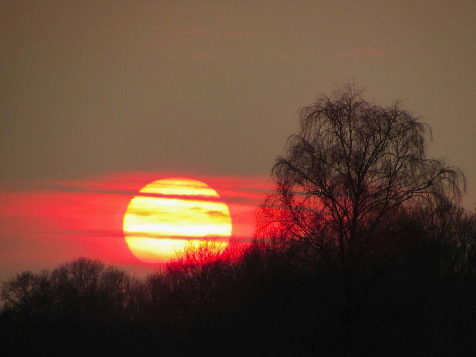 What a awesome sunset today Netherlands.