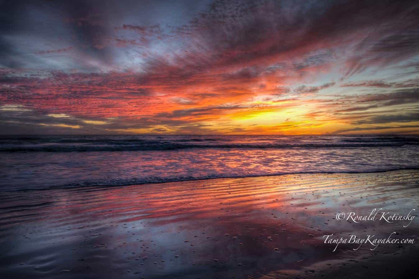 Siesta Key - Color Explosion Glow - Jan. 2016 — atSiesta Key Beach.
