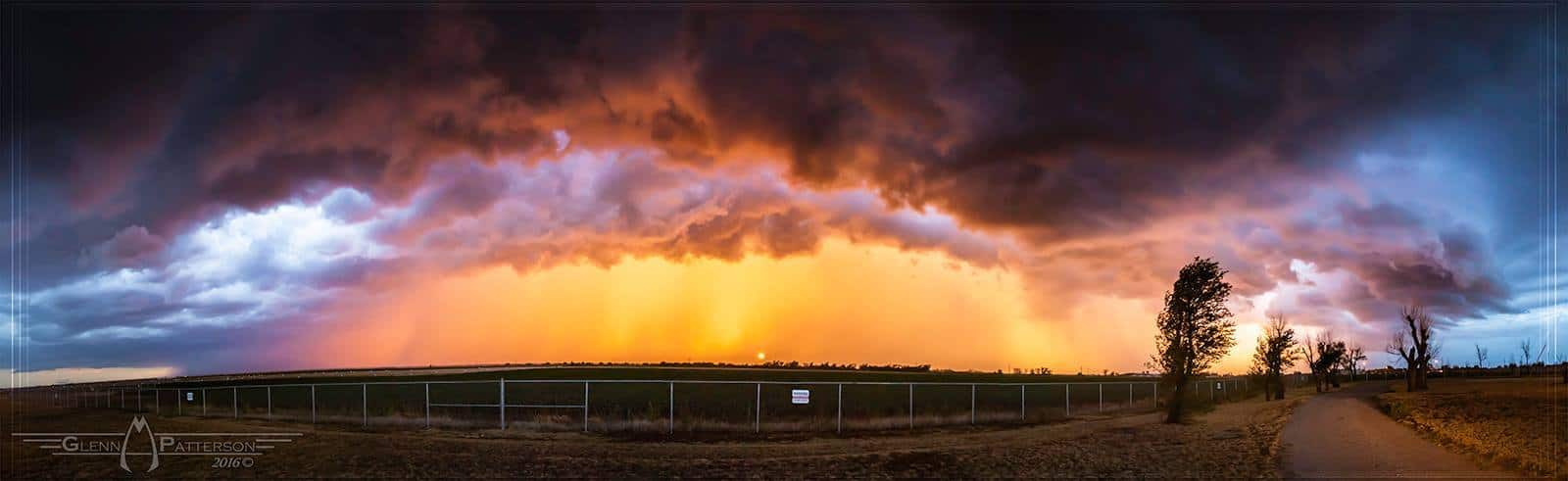 Here's a Oldie but a Goodie. Hands Down one of the Most Beautiful Stormy Sunsets I've Ever taken. Its a 13 Shot Panorama taken on August 25th 2012 several miles North of Altus Oklahoma. Enjoy
