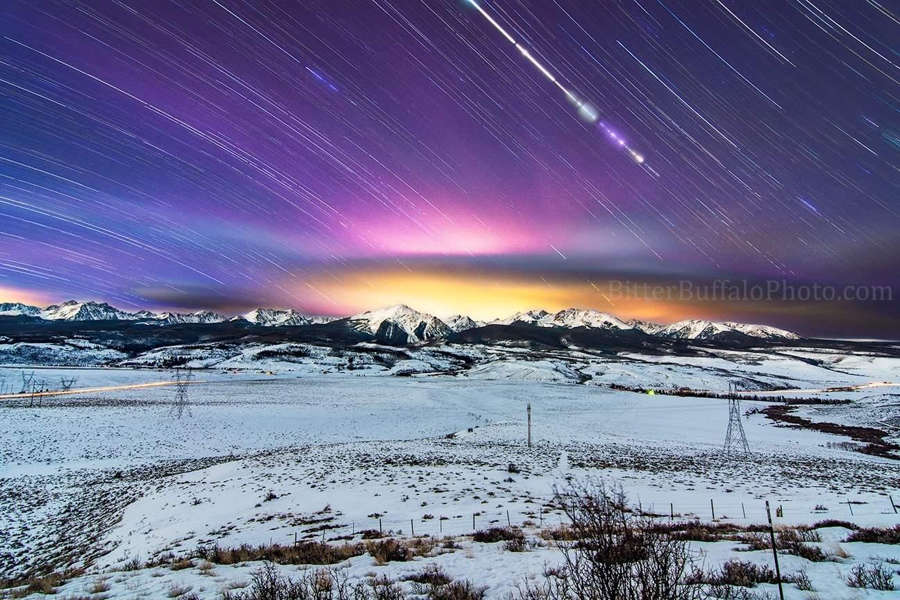 """7,576 seconds"" Ute Pass 10 exposures #Startrails#Stars #Colorado"