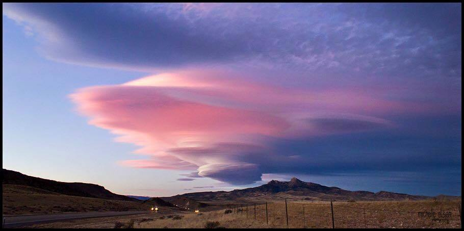 A nice Lenticular over Heart Mountain in Cody Wyoming