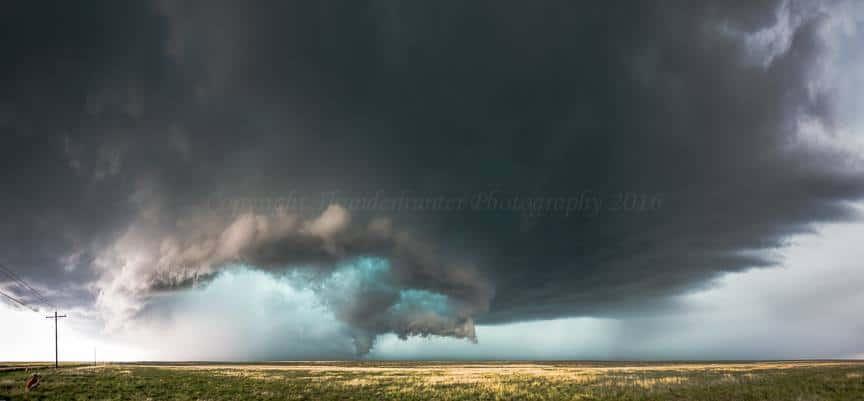 Supercell near Lamar, Colorado - May 24th 2015