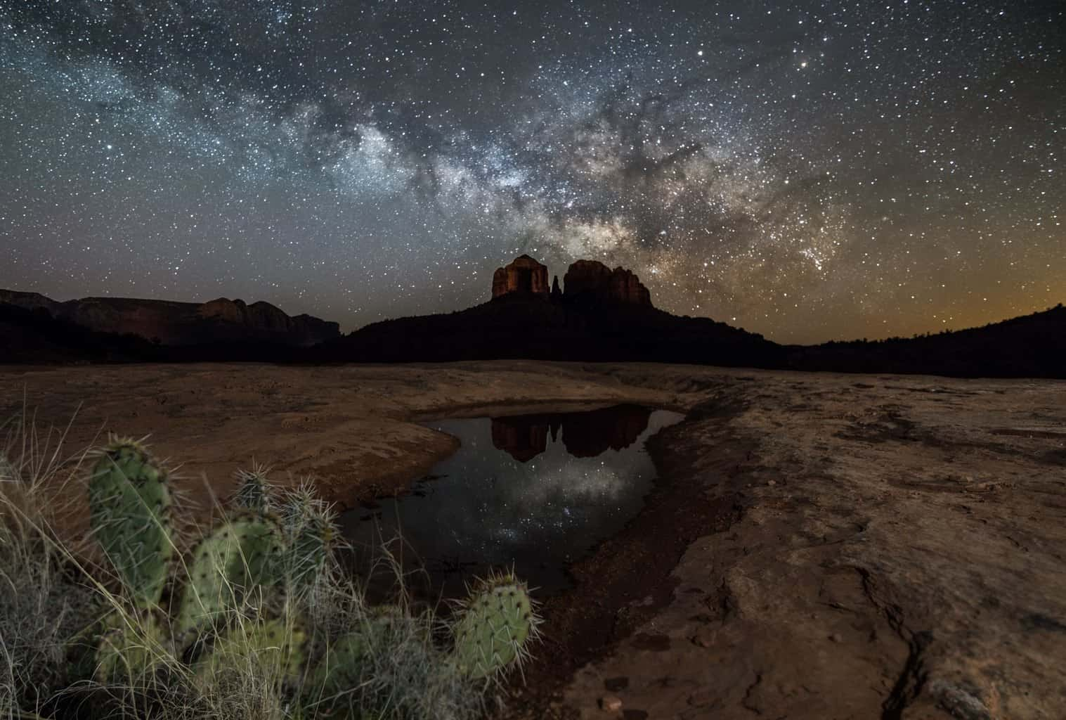 Relatively warm nights meant last night was a great time to go out and shoot the Milky Way for the first time this season. It is rising about an hour and a half or so before sunrise. This was taken in Sedona, AZ.
