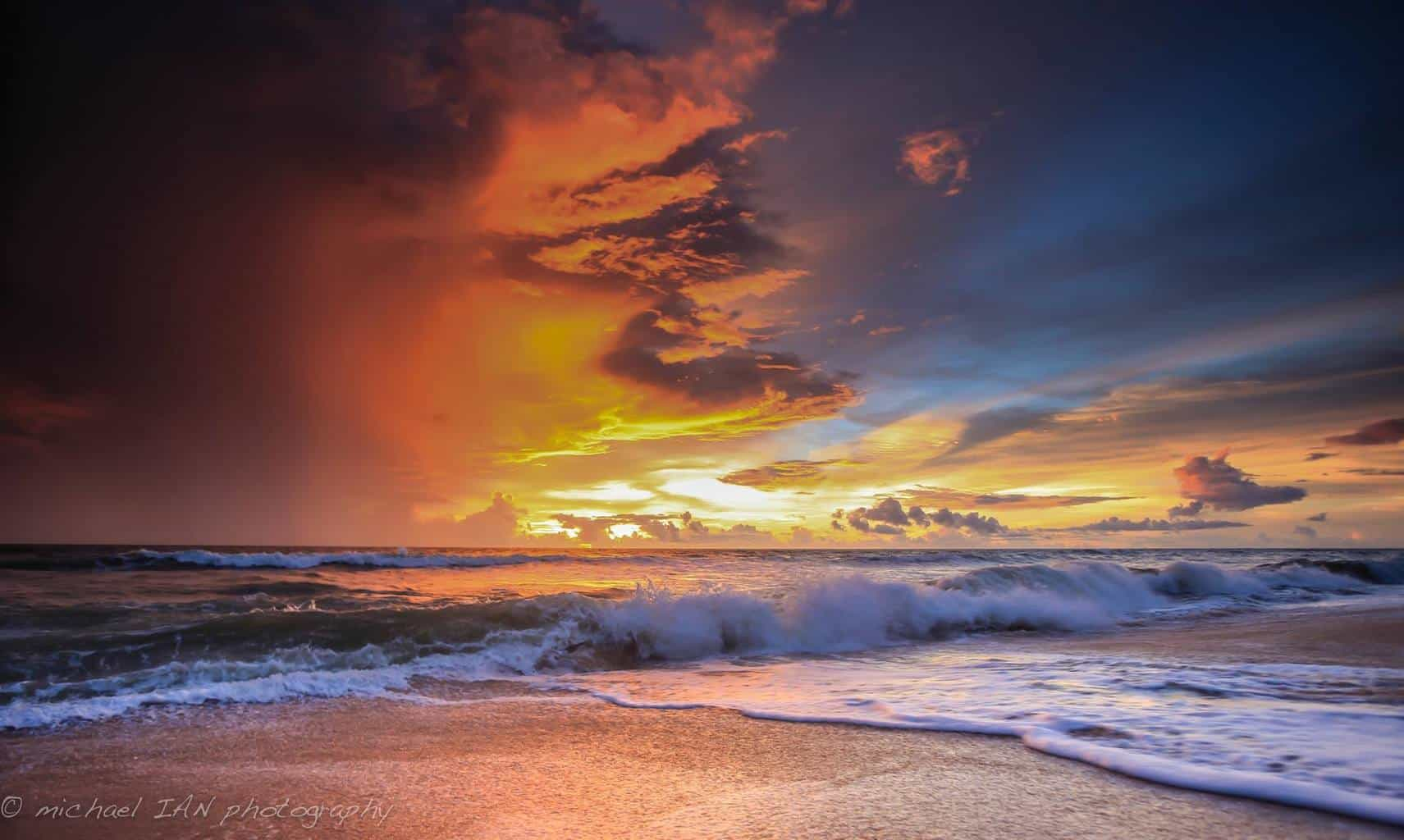 When the storms and the sunrise collide!