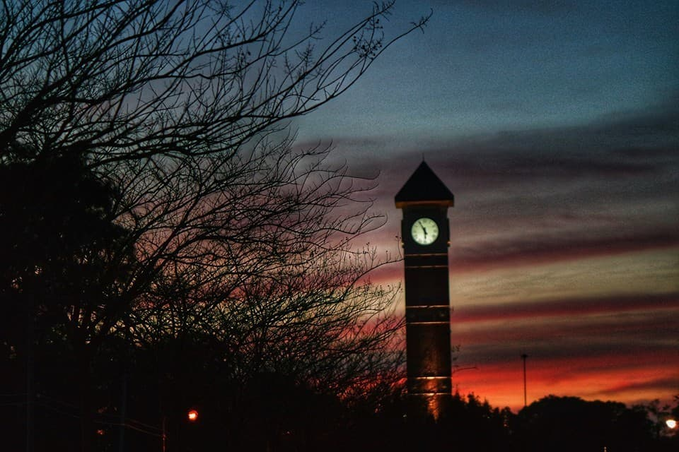 Sunset — at Pensacola State College.