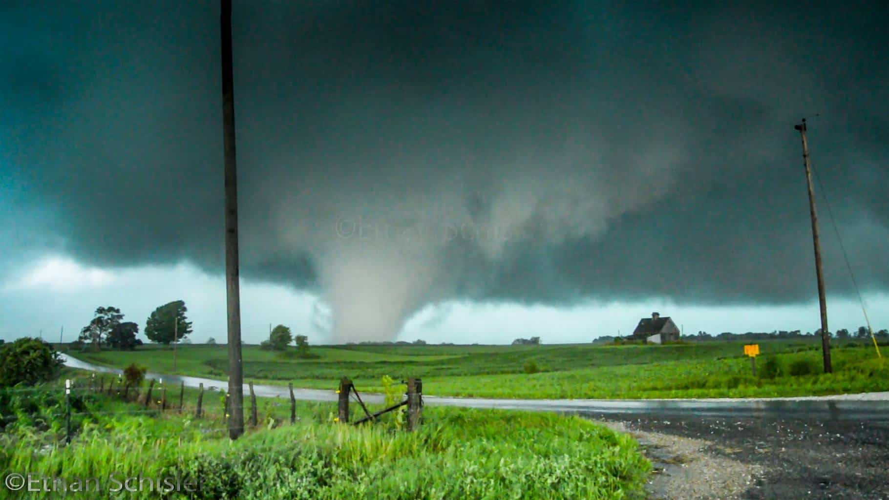 July 16, 2015 - Kirkwood, IL  Large beautiful tornado on the plains of Western Illinois. This was produced by a cyclic supercell that traveled from Burlington IA to nearly Galesburg, IL producing numerous tornadoes. This one, unlike the successor later on, stayed mainly over rural areas, however appeared quite visually intense. The last tornado of this event hit just less than 8 miles from my home! What a crazy day.