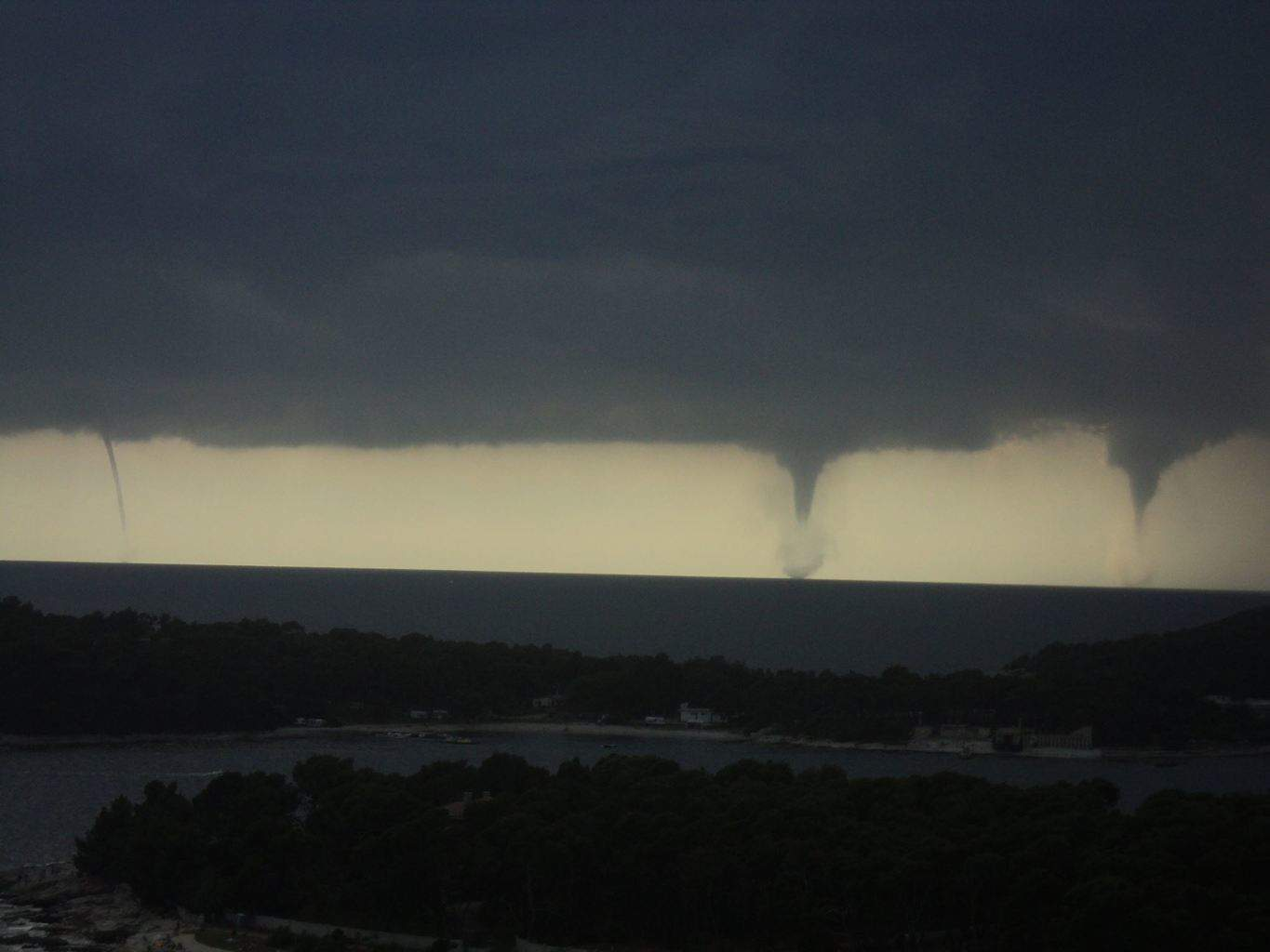 Waterspouts over W Coast of Istria! 06.24.2013.