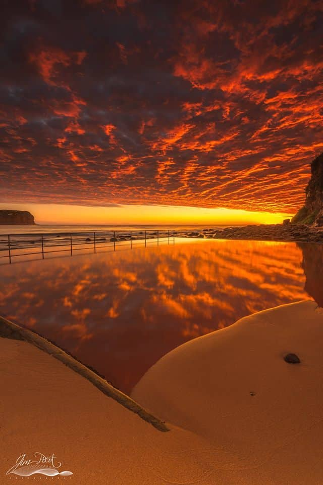 From Monday mornings amazing sunrise at MacMasters Beach, Central Coast.