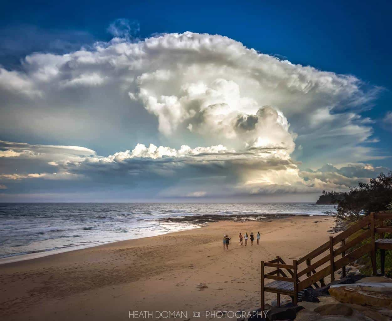 Epic super cell on Monday from Caloundra Australia