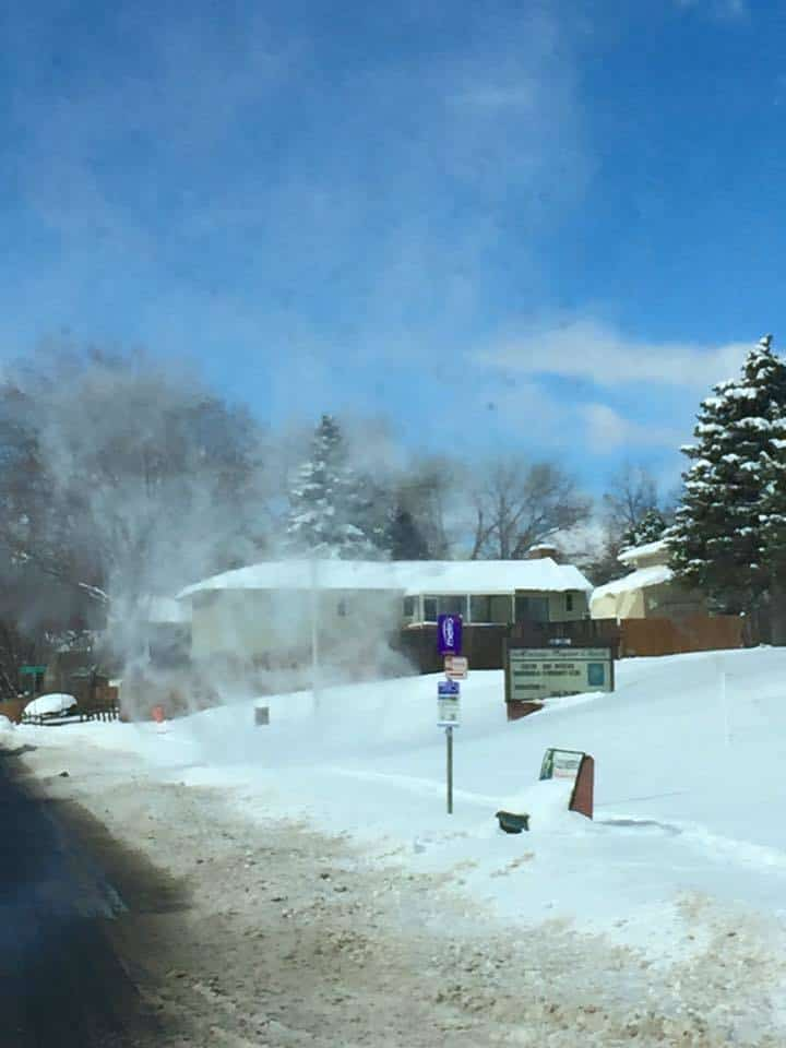 Driving down the street in Colorado Springs and came across a SNOWNADO!