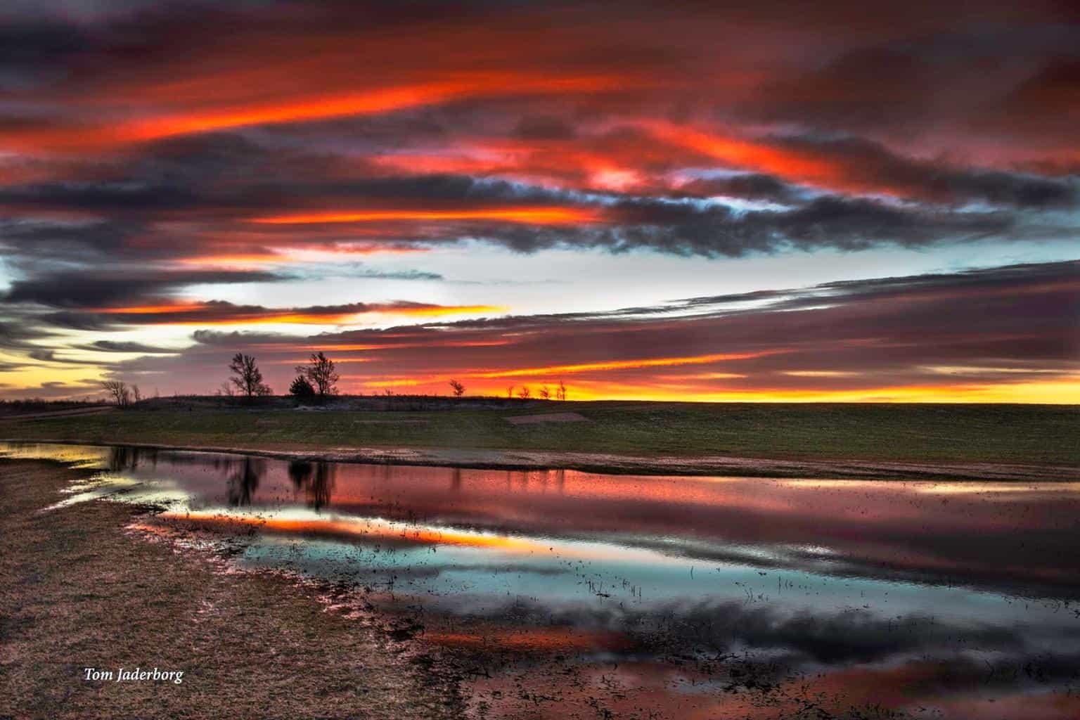 Sunrise in central Kansas. 2-19-16