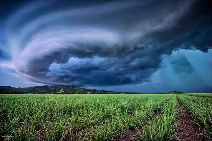 A few days ago, I witnessed one of the most dangerous & scariest supercells I have ever chased. The hail, wind & rain were on another level & the beam of light that came through the shelf cloud looked incredible! Taken in Murwillumbah, NSW in Australia..