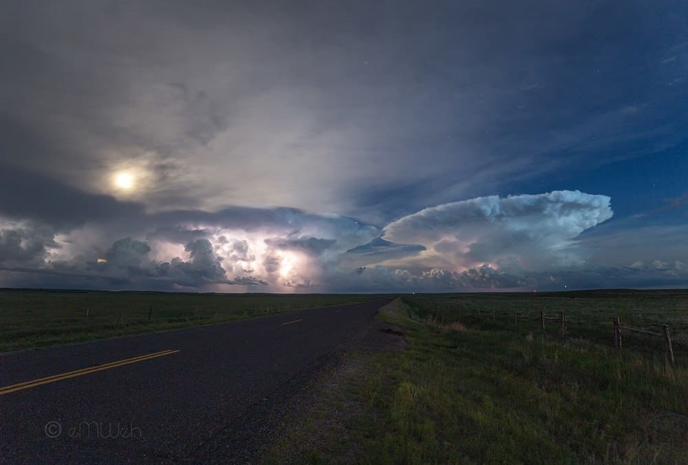 What do cb's in the moonlight? They kiss Eastern Colorado, June 2015