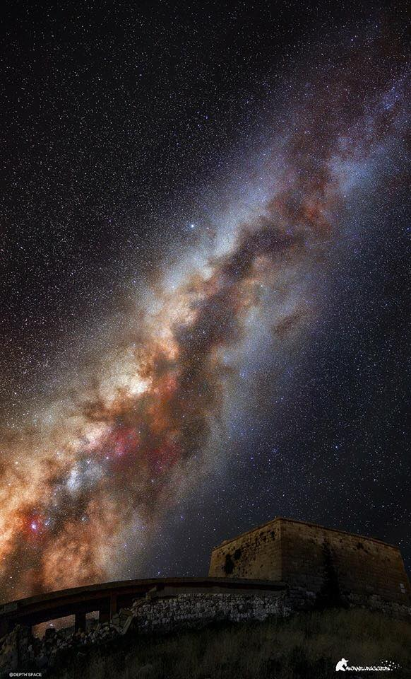 The milky way seen from Italy!