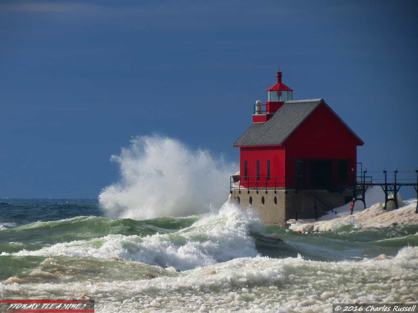 Lake Michigan was angry today!! I was down there shooting plenty of video and photos, here's one of them! A big wave smacked into the Grand Haven, MI Pier and Lighthouse! We had a gorgeous day, mid 50s with sunshine, and very windy. That was a perfect setup to head down to the lake shore to get some epic shots. I'll post more over the weekend.
