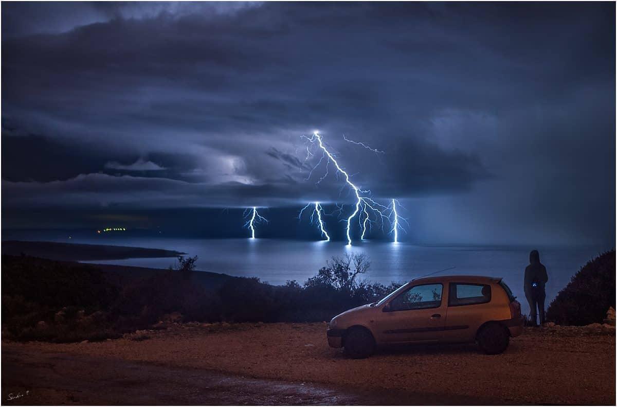 Storm chasing.. 15.2.2016. island Lošinj / Croatia