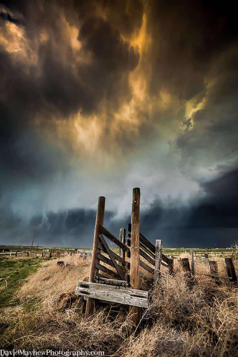 May 19th, 2014 near Sidney Nebraska. A supercell storm becomes out flow dominant and shortly after the photo was taken I was attacked by a mob of tumble weeds!