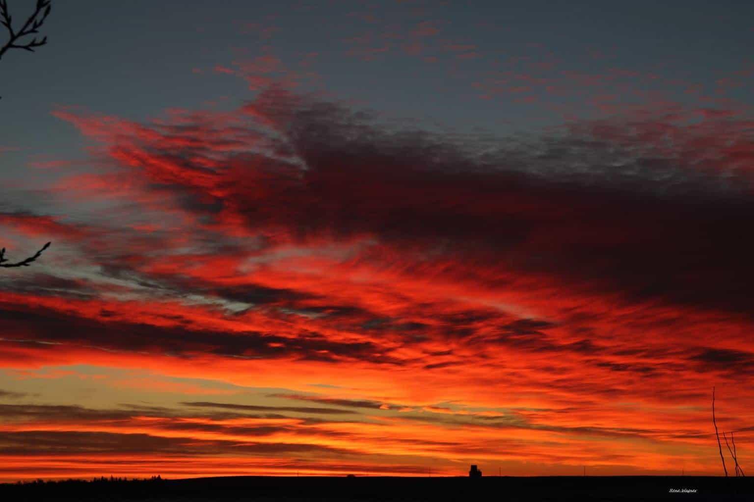 unedited sunrise shot from yesterday