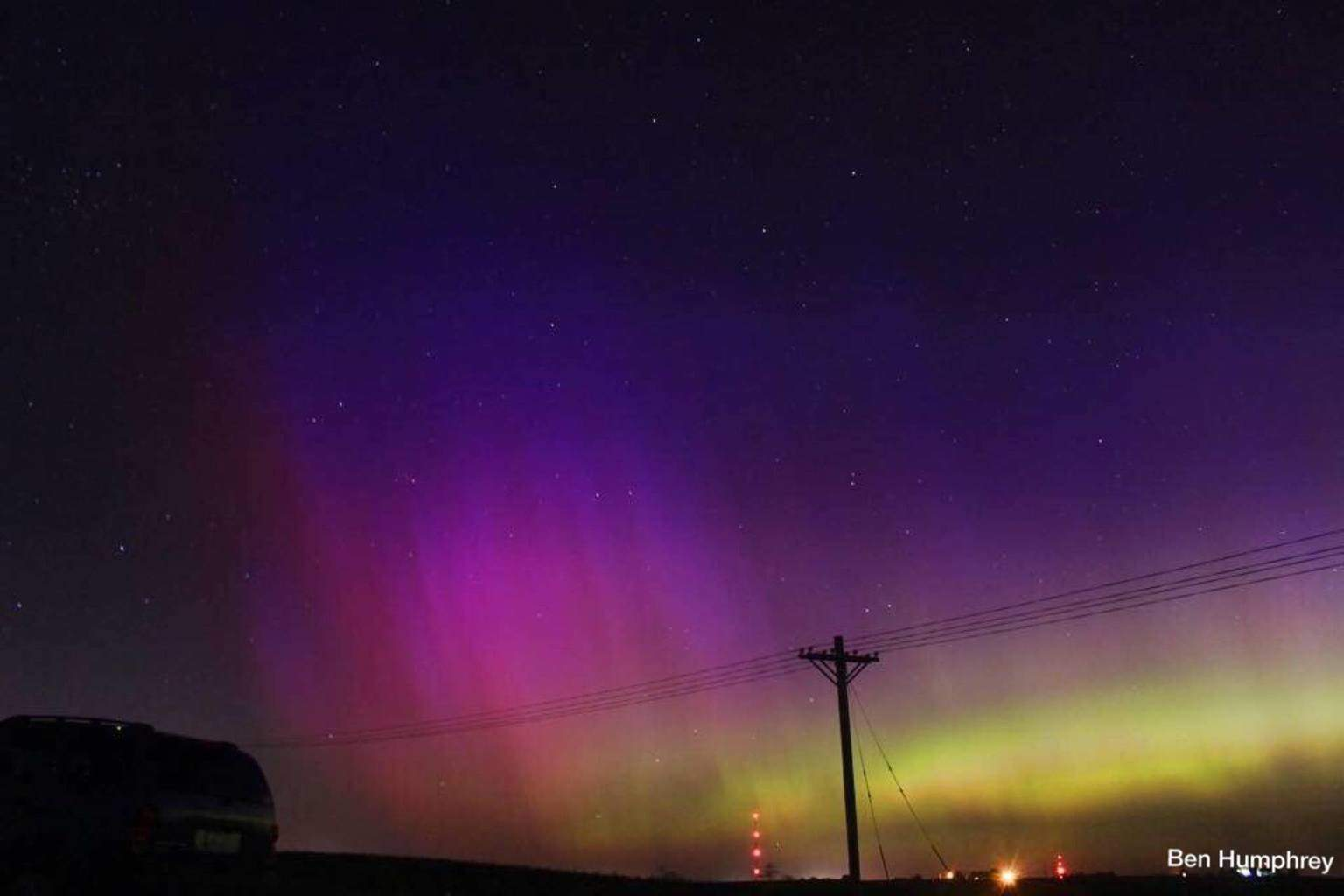 One of the first pictures I ever took of the northern lights in Central Iowa on 6/23/15