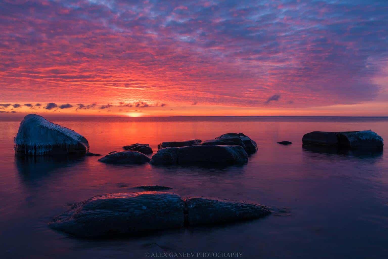 Sunrise last Friday in Duluth, MN