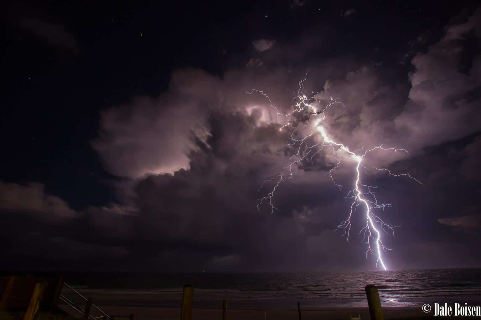 Incredible storm shot from Bribie Island on Monday night, lasted for hours and was the most lightning active storm I have ever seen.
