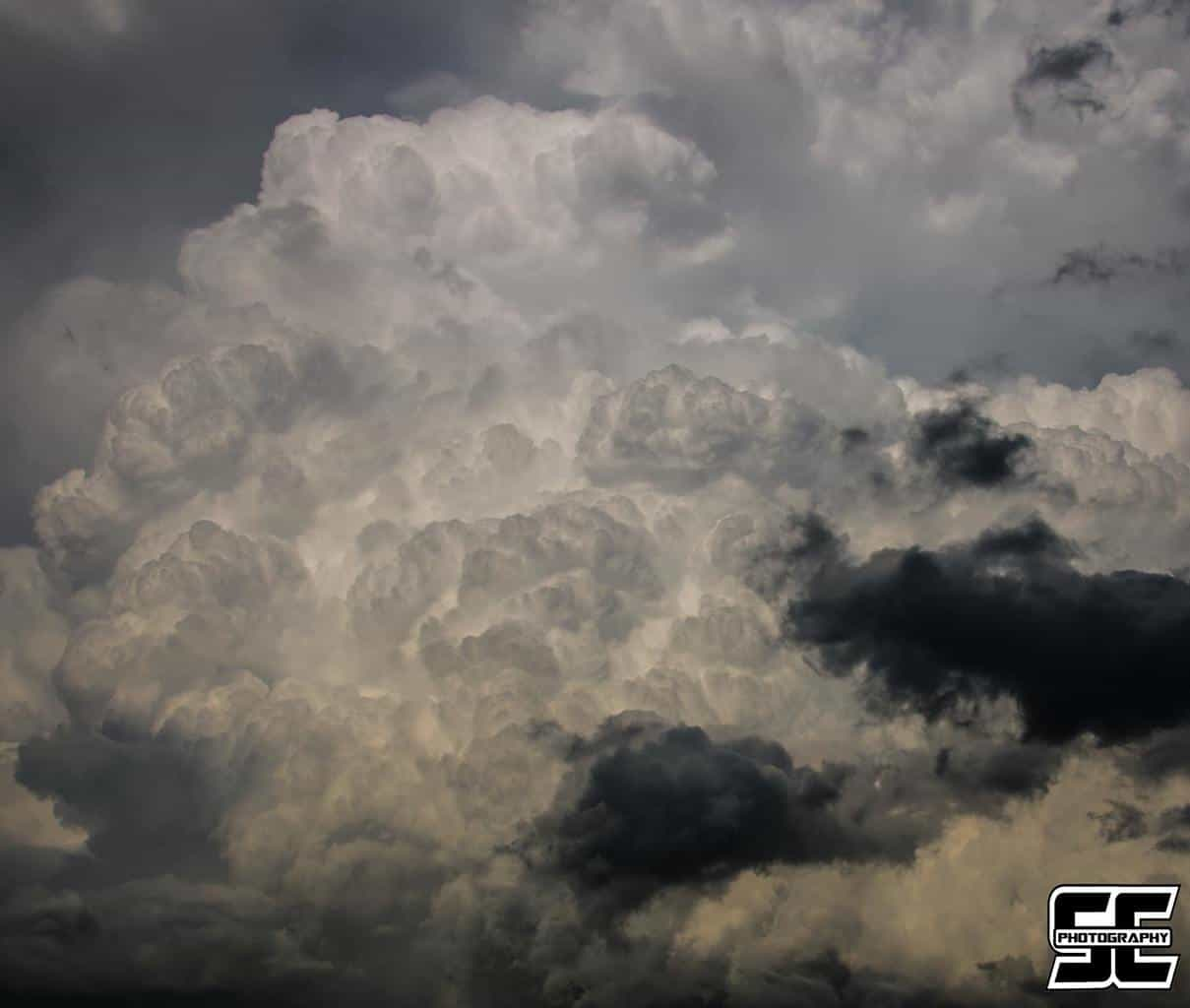 Explosive updraft on a severe storm near Tennant, IA back on June 29th, 2014.