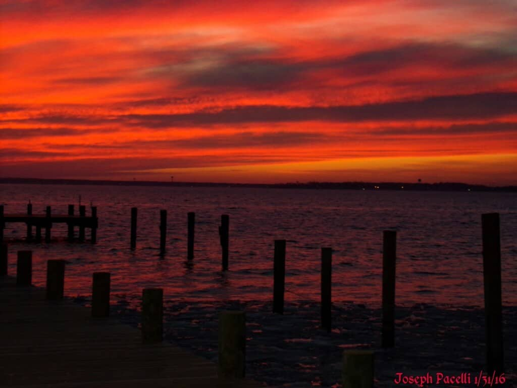 Just a wow sky on the evening of 1/31/16 in Seaside Park, NJ