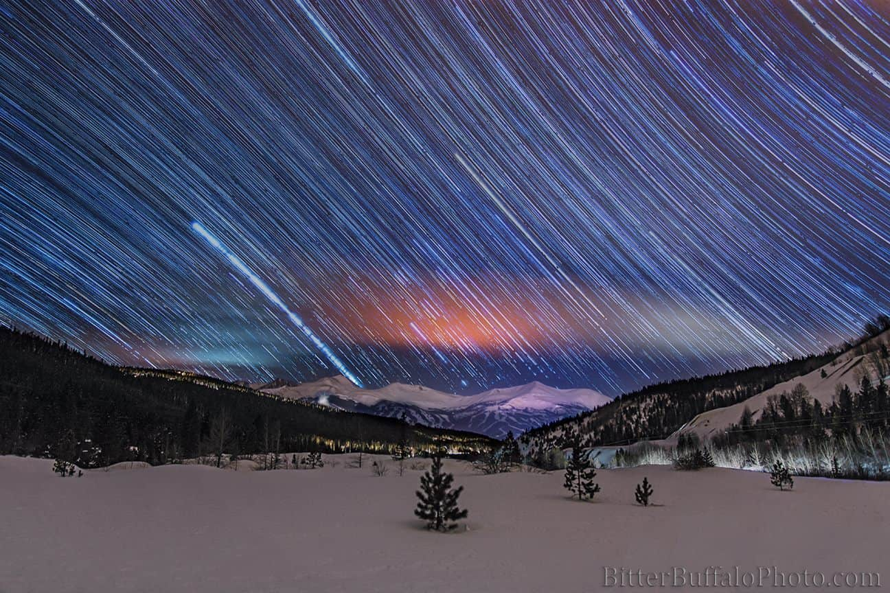 I have been working on a project which calls for lots of late nights. I hope my efforts pay off here is a bunch of stacked shot from Breckenridge Ski