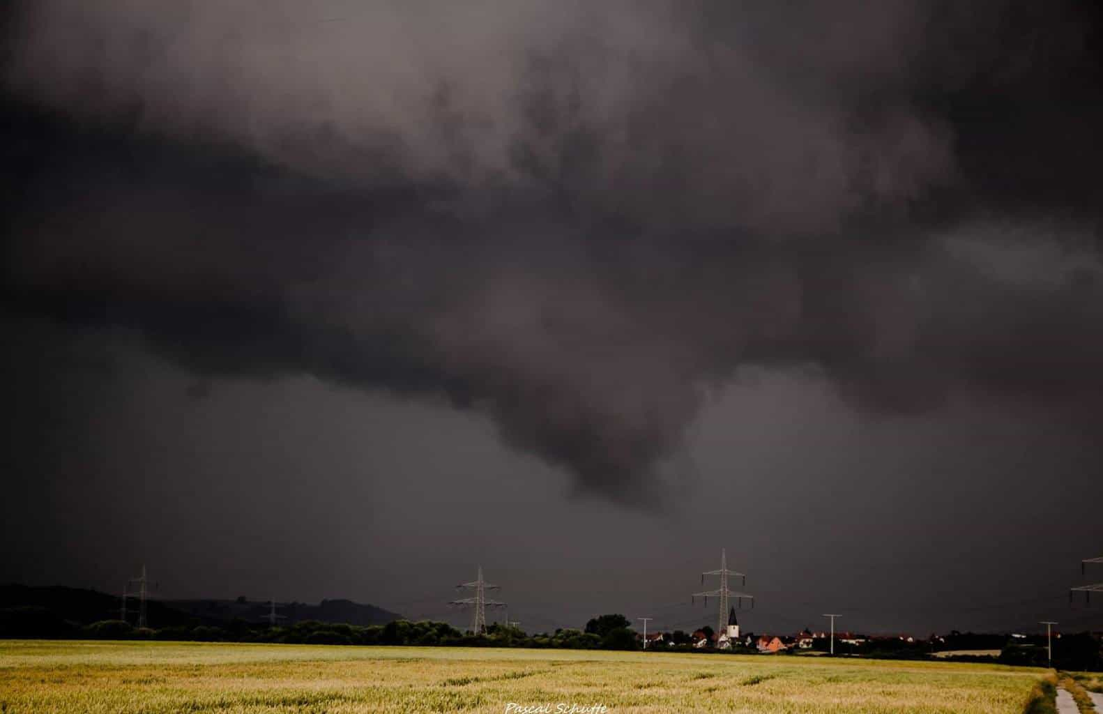 """Here my """"near"""" Twister Picture out from Germany, 28.6.2015 Bamberg, Bavaria  It would not be skrewed up!  But its okay, it was over Bamberg.."""