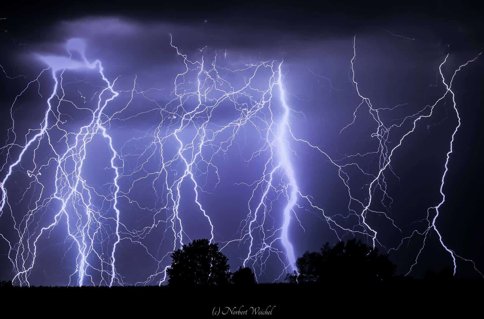 Thunderstorm 31.08.2015 in Erzgebirge/Germany (2 Pic´s stackin ,each exposed 30 sec.)