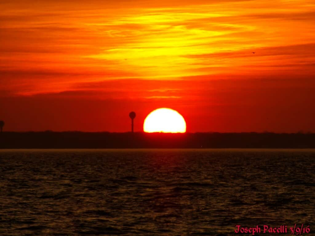 Beautiful sunset yesterday evening at my favorite perch at the bay in Seaside Park, NJ