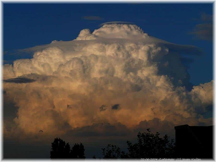12 years ago there was something special in the sky. A double pileus on the top of this updraft. Sorry for the quality