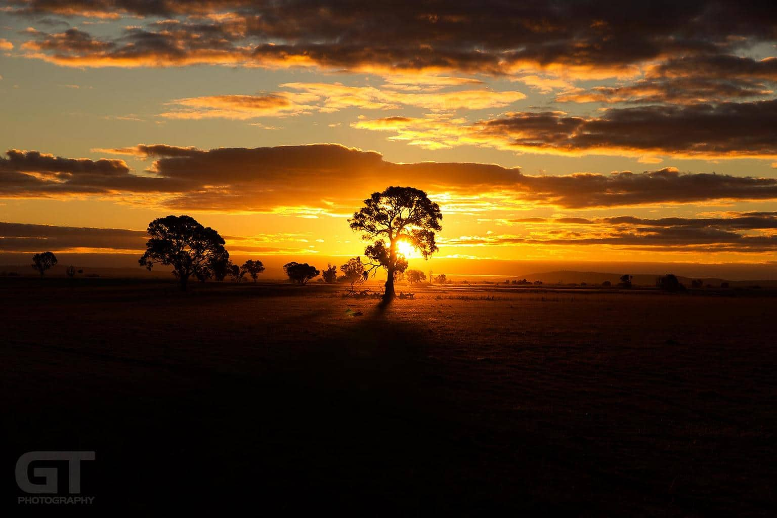 Winter Sunset - from back in July, 2012 on a back road in country Victoria, Australia.