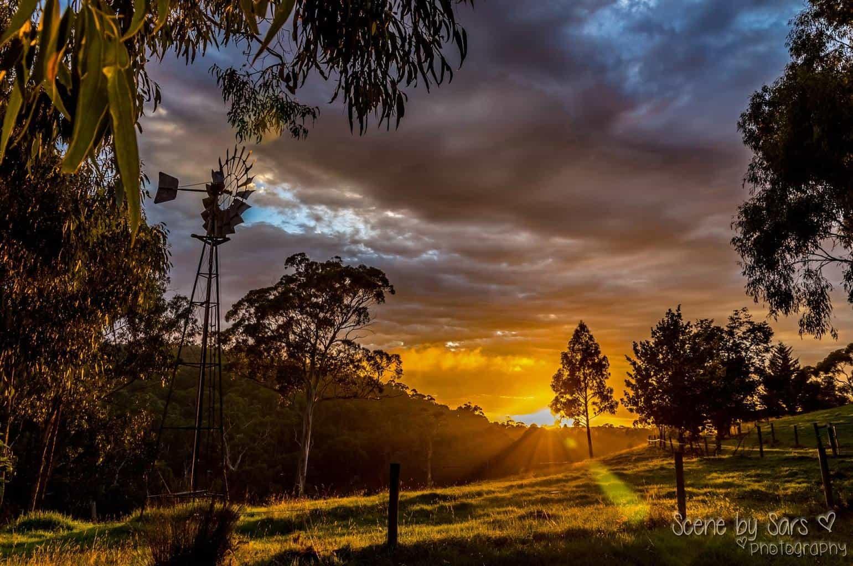 This morning's beautiful sky, Australian summer sunrise taken in Victoria.
