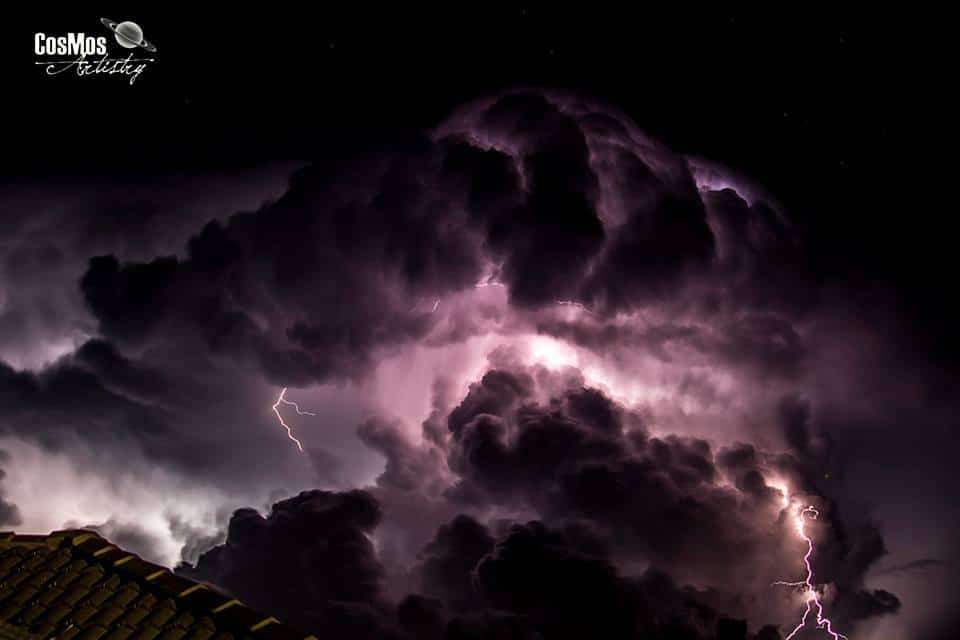 Thunderstorm Feb. 2016 Mountain Creek, Sunshine Coast, Queensland, Australia. Have been waiting for a good storm to capture structure and this happened a safe distance away.