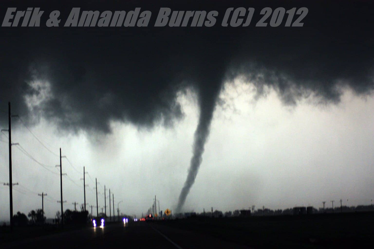 In the heat of the moment. April 14, 2012 north of Cherokee, Oklahoma.