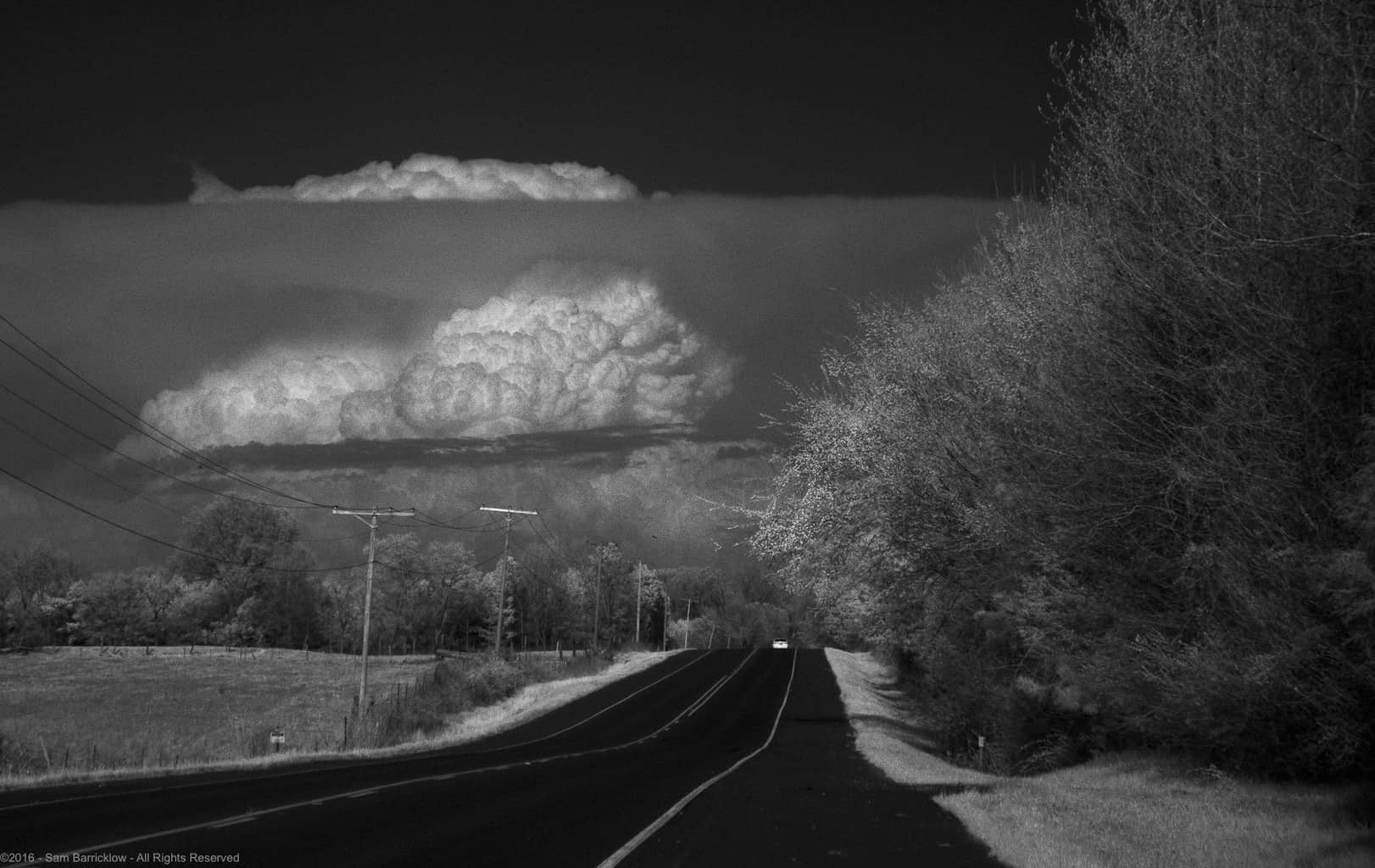 The Little Rock tornado warned supercell viewed from Emmet, Arkansas on Sunday, March 13, 2016 at 5:28 PM