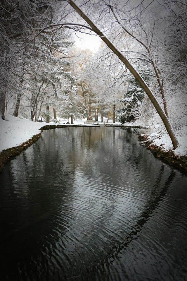 Rod and Gun park in Eau Claire,WI after a beautiful snowfall...
