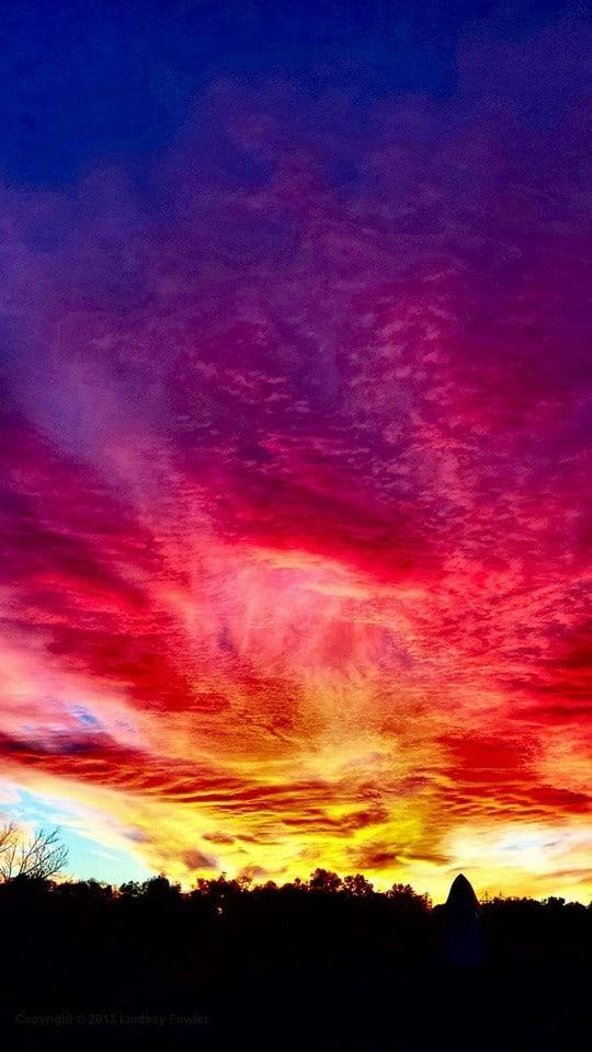 JCMO sunset...one minute it's beautiful, then next, it's gone... Jefferson City, Mo. 11-8-2013