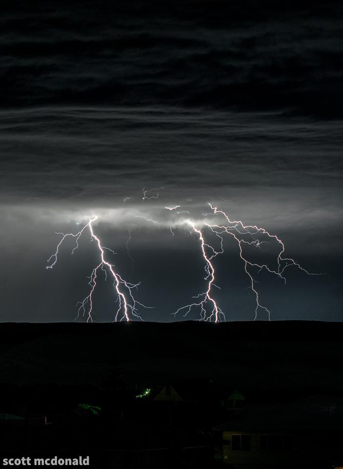 a building storm east of my hometown delivered this awesome double strike on friday night but not much happened after so i got lucky with this shot