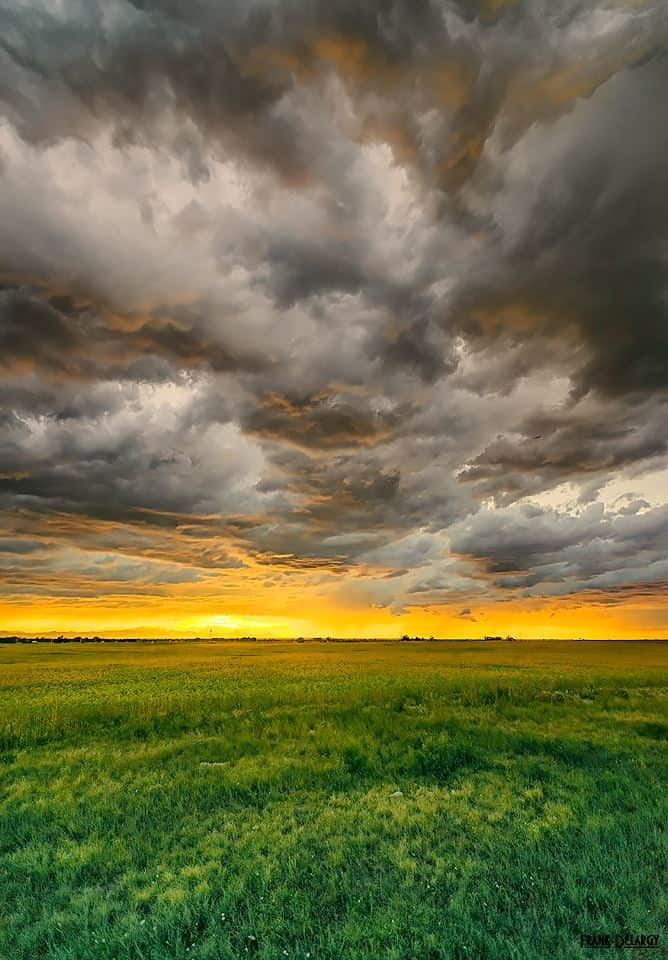Colorado sunset — at Denver International Airport.