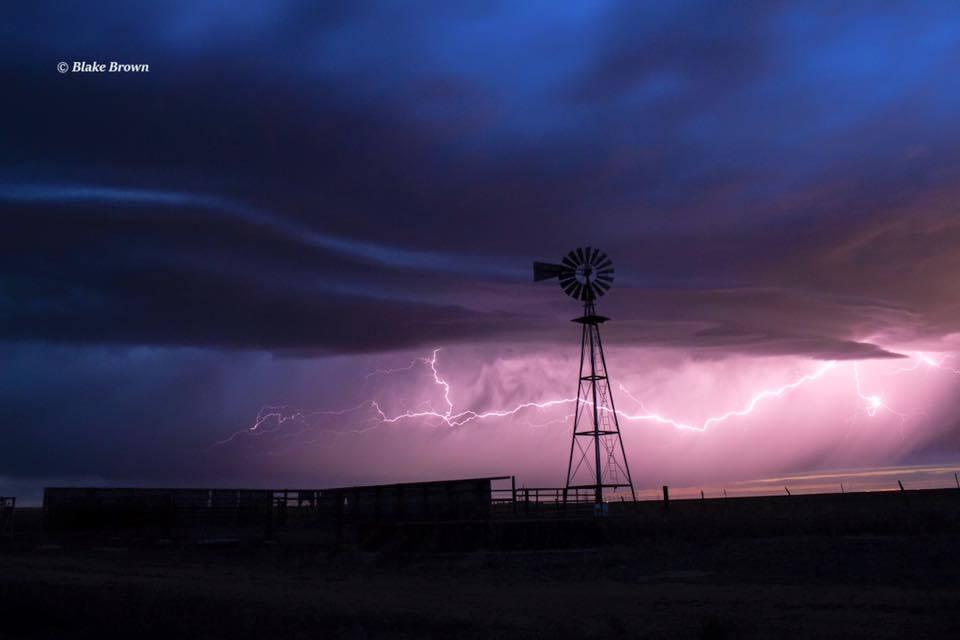 Lightning shot from a small T-storm near Amarillo Tx earlier (3-8-16)!
