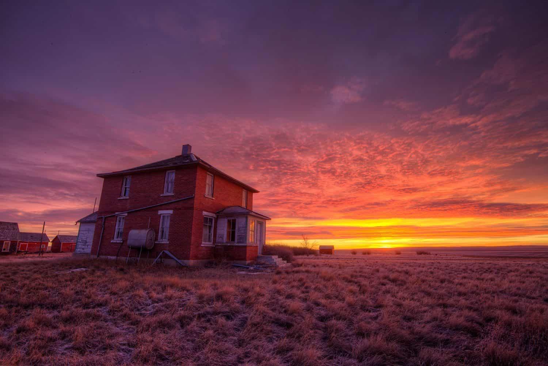 This morning's sunrise In Saskatchewan Canada