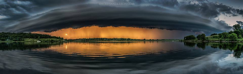 Ok I found it, it was already edited. I think it was like 5-6 shots stitched in PS. From that same storm at Summit Lake SRA, Nebraska