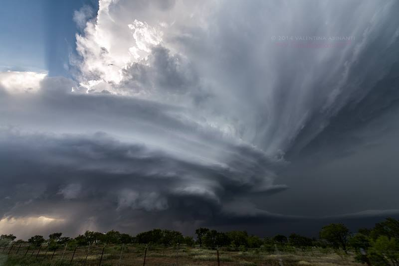 Supercell near Henrietta, TX. May 7th 2014.