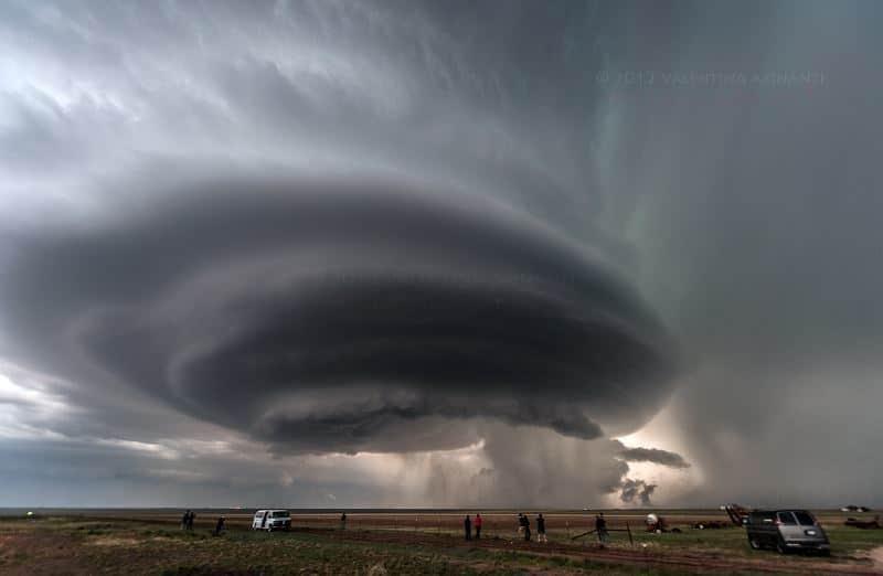 Supercell near Vega, Texas. May 21st 2012.