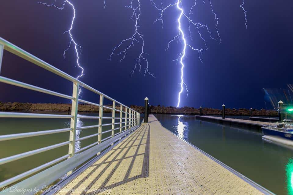 Another from last night's long overdue storm activity in Perth. This one was a little too close for comfort!